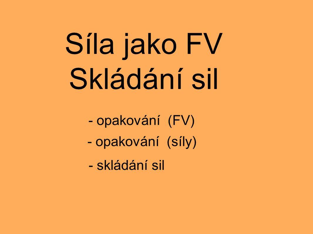 Síla jako FV Skládání sil - opakování (FV) - opakování (síly) - skládání sil