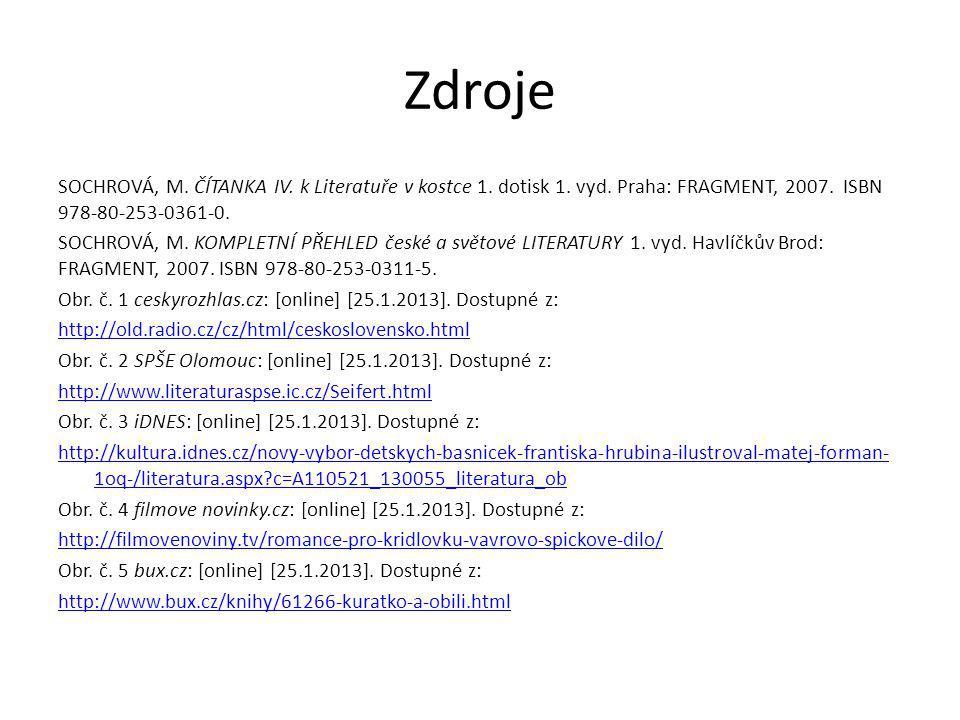 Zdroje Obr.č. 6 bookfan.cz: [online] [25.1.2013].