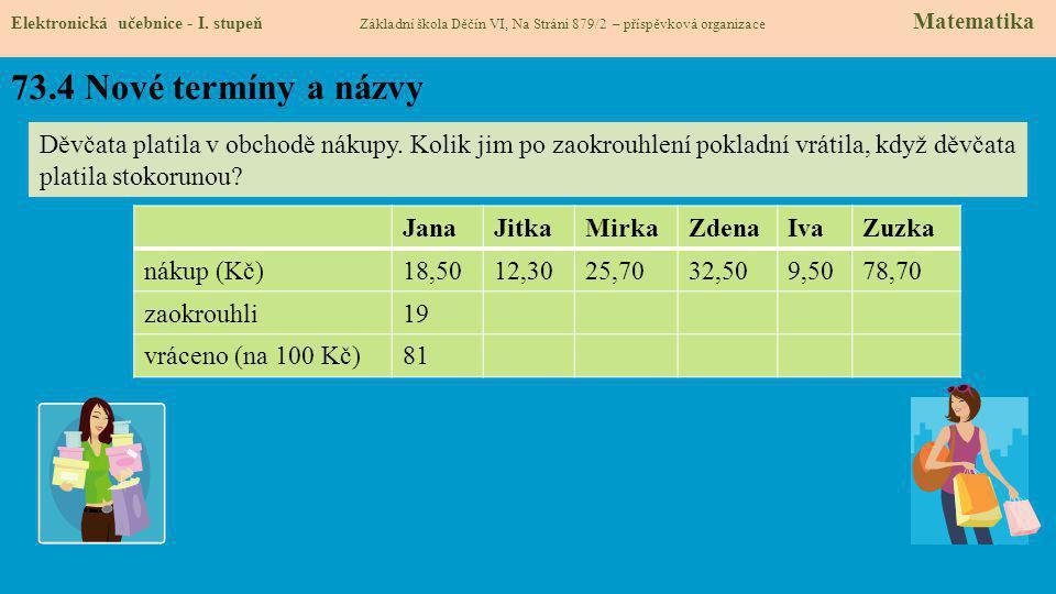 73.4 Nové termíny a názvy Elektronická učebnice - I.