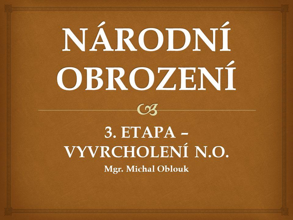 3. ETAPA – VYVRCHOLENÍ N.O. Mgr. Michal Oblouk