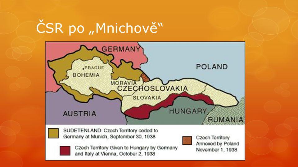 """ČSR po """"Mnichově"""""""