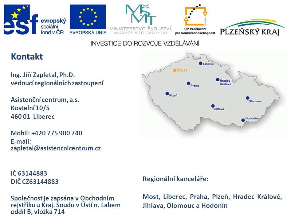 Kontakt Ing.Jiří Zapletal, Ph.D. vedoucí regionálních zastoupení Asistenční centrum, a.s.