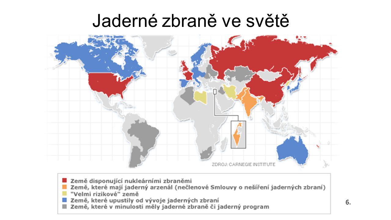 Jaderné zbraně ve světě 6.