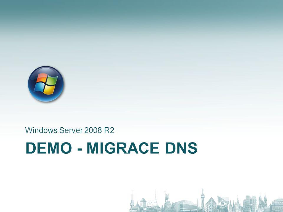 DEMO - MIGRACE DHCP Windows Server 2008 R2