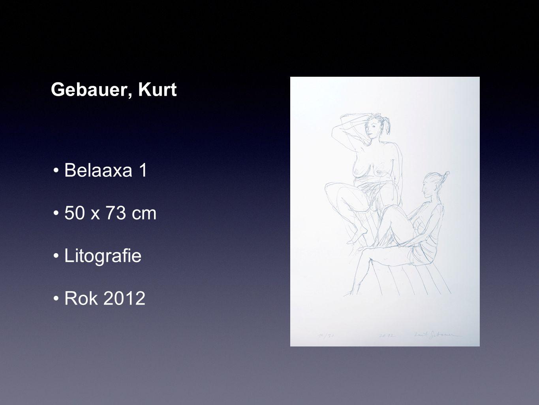 Gebauer, Kurt Belaaxa 1 50 x 73 cm Litografie Rok 2012