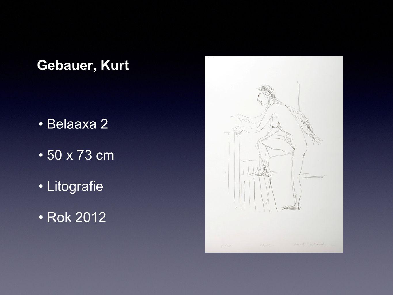 Gebauer, Kurt Belaaxa 2 50 x 73 cm Litografie Rok 2012