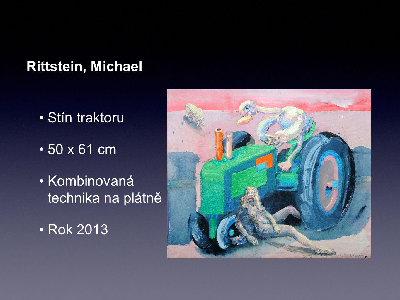 Rittstein, Michael Stín traktoru 50 x 61 cm Kombinovaná technika na plátně Rok 2013