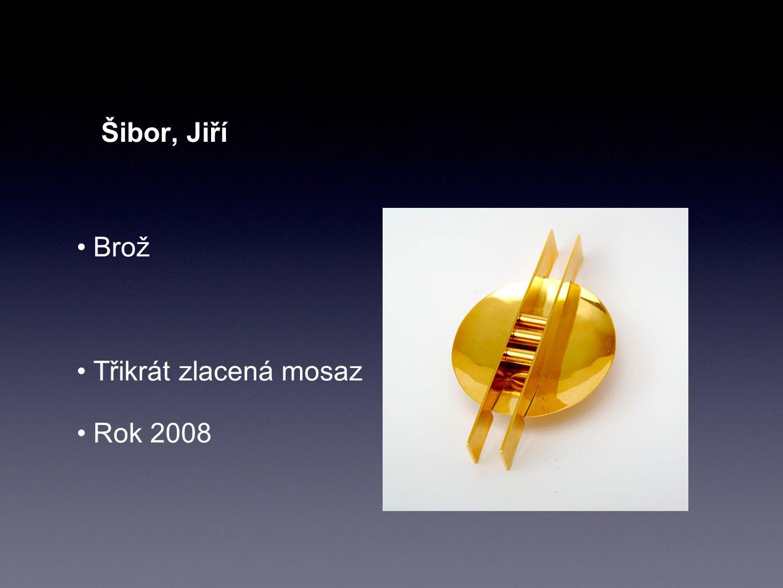 Šibor, Jiří Brož Třikrát zlacená mosaz Rok 2008