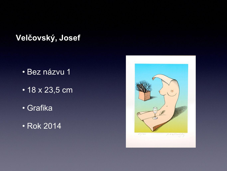 Velčovský, Josef Bez názvu 1 18 x 23,5 cm Grafika Rok 2014