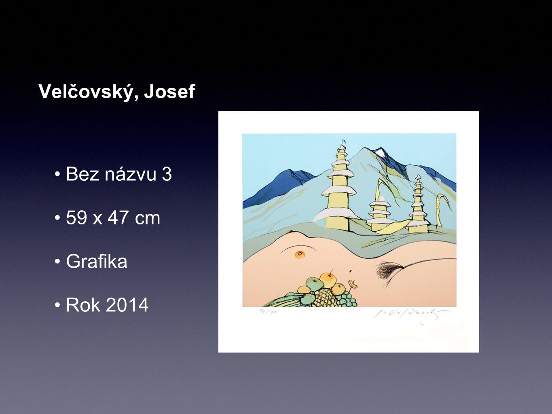 Velčovský, Josef Bez názvu 3 59 x 47 cm Grafika Rok 2014