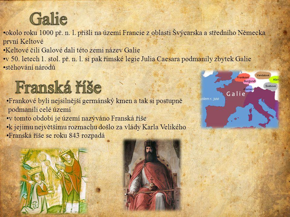 Frankové byli nejsilnější germánský kmen a tak si postupně podmanili celé území v tomto období je území nazýváno Franská říše k jejímu největšímu rozm