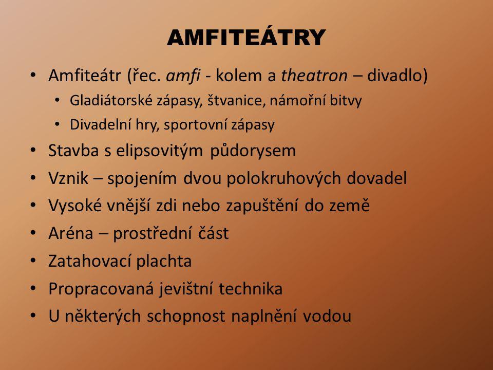 AMFITEÁTRY Amfiteátr (řec.