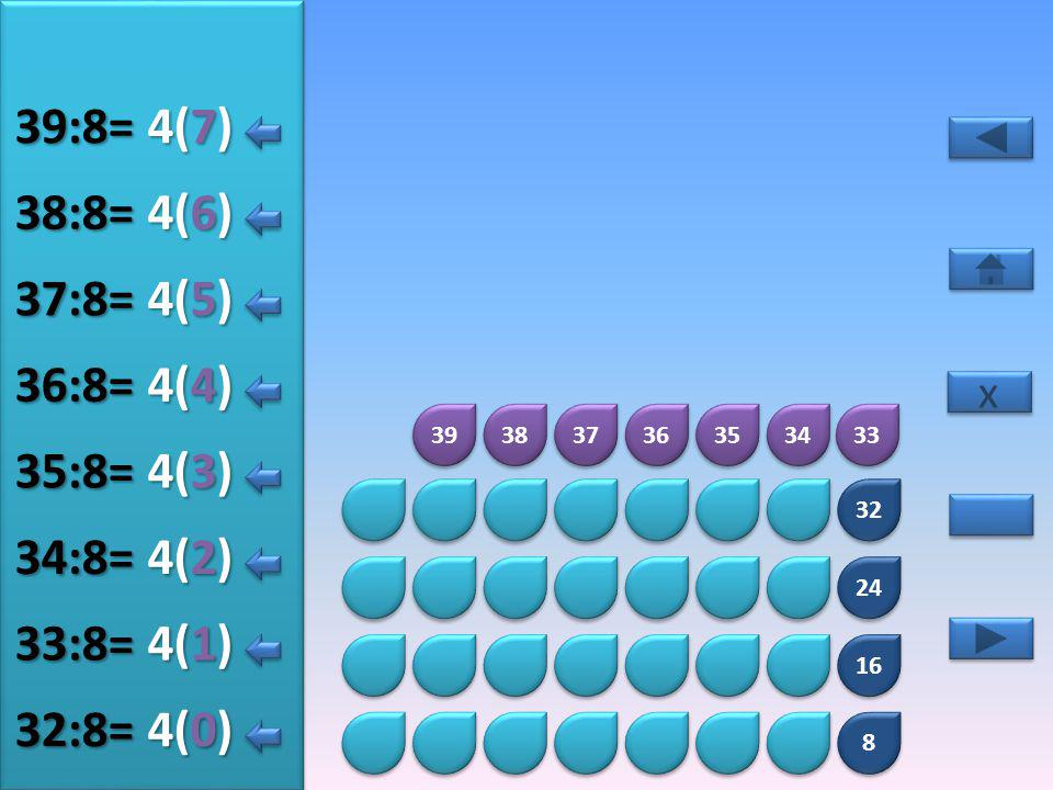 8 8 16 24 32 40 41 42 43 44 45 46 47 5(5) 40:8= 5(0) 41:8= 5(1) 42:8= 5(2) 43:8= 5(3) 44:8= 5(4) 45:8= x x 5(6) 46:8= 5(7) 47:8=