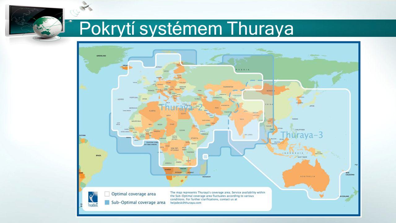 Pokrytí systémem Thuraya