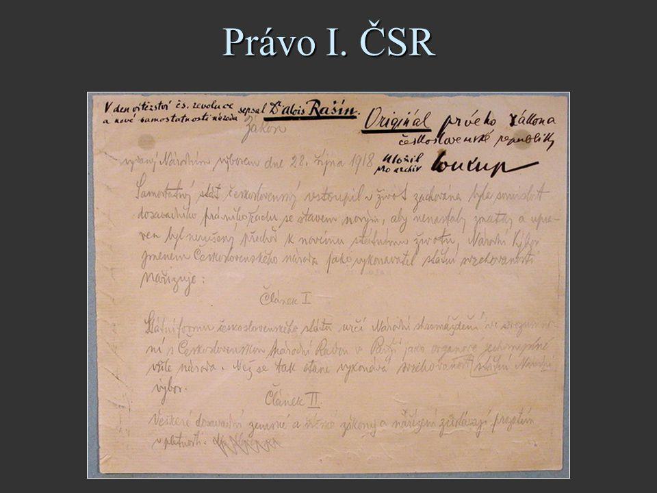 Právo I. ČSR