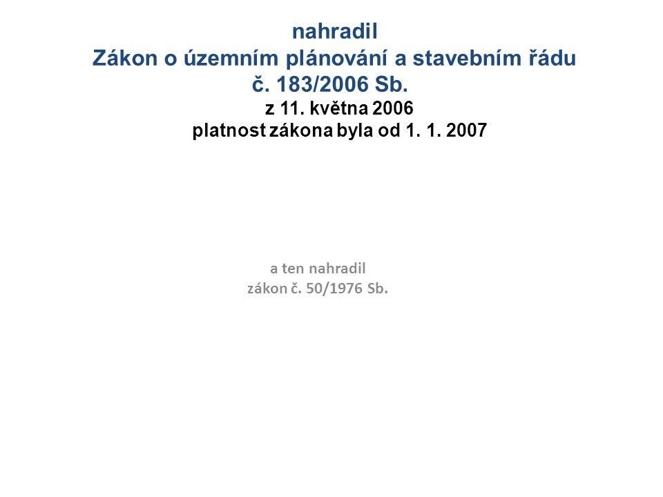Prováděcí vyhlášky Vyhl.499/2006 Sb., aktualizace č.