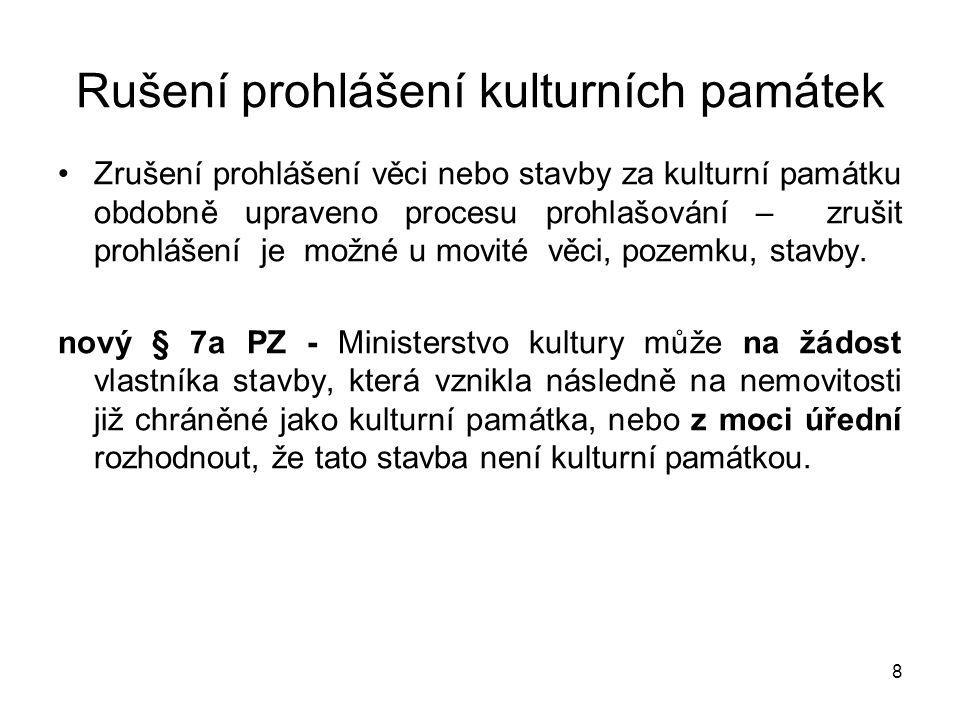 Právo státu na přednostní koupi kulturních památek Nové ustanovení v § 13 odst.