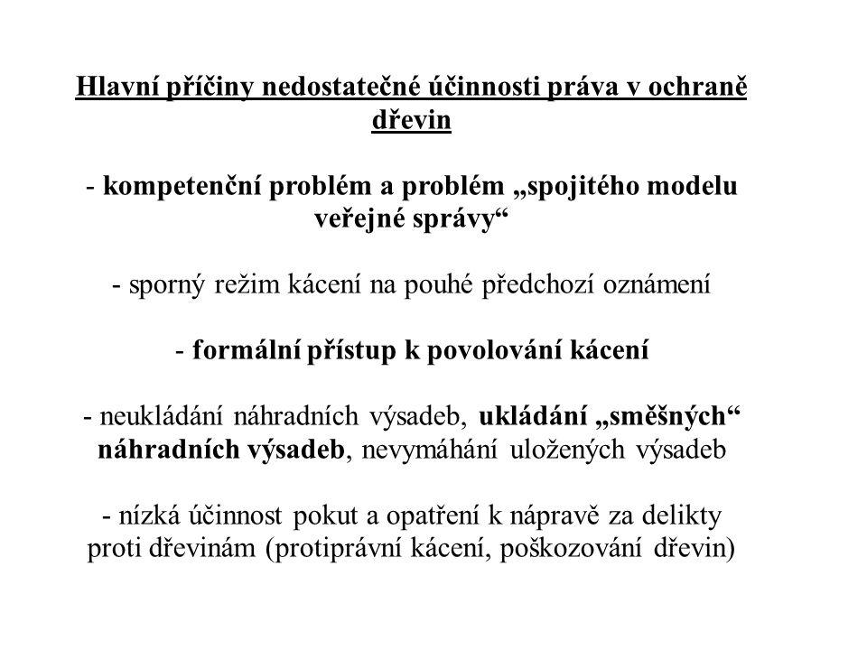 Dřeviny z pohledu jiných veřejnoprávních předpisů - z tzv.