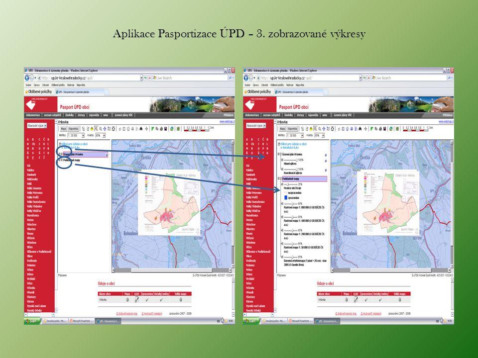 Aplikace Pasportizace ÚPD – 3. zobrazované výkresy