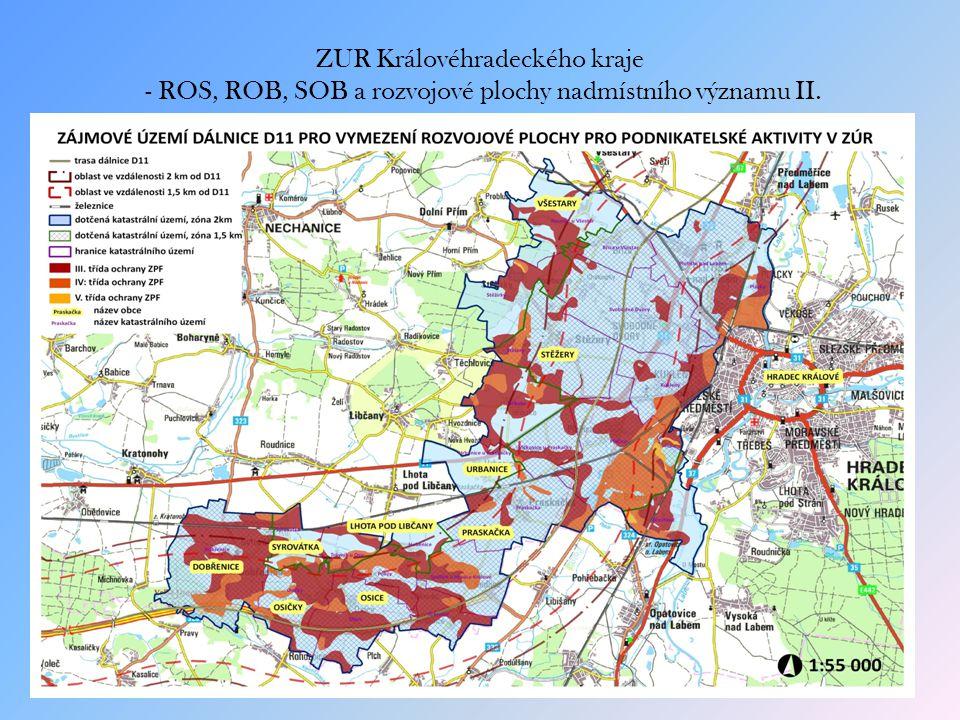 ZUR Královéhradeckého kraje - ROS, ROB, SOB a rozvojové plochy nadmístního významu II.
