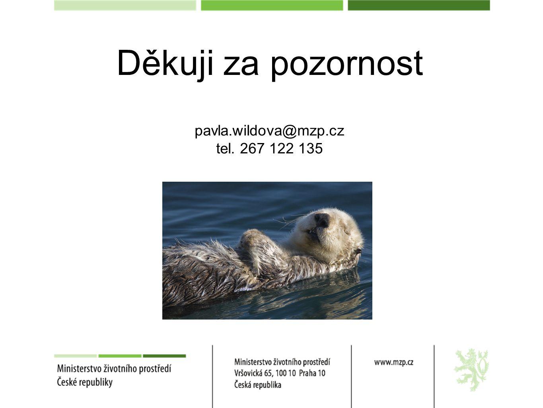Děkuji za pozornost pavla.wildova@mzp.cz tel. 267 122 135