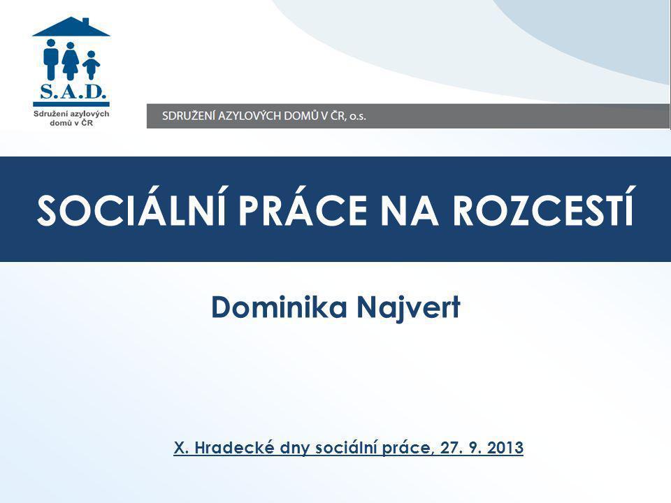 Dominika Najvert X. Hradecké dny sociální práce, 27. 9. 2013 SOCIÁLNÍ PRÁCE NA ROZCESTÍ