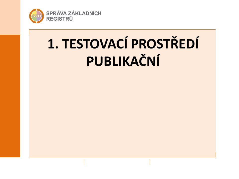 1. TESTOVACÍ PROSTŘEDÍ PUBLIKAČNÍ