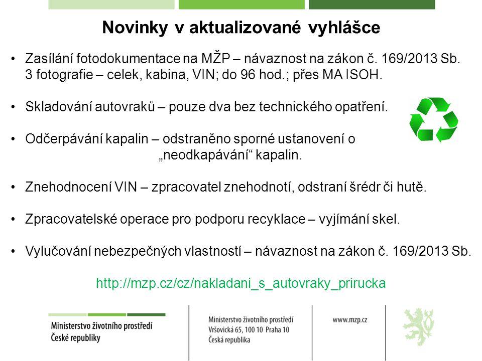 Novinky v MA ISOH Zasílání fotodokumentace na MŽP – minimální uživatelská náročnost, upozornění o nezaslání fotodokumentace do 96 hod.