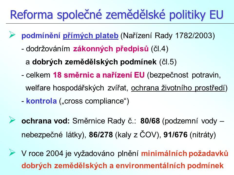 Nařízení Rady 1782/2003 – příloha k čl.
