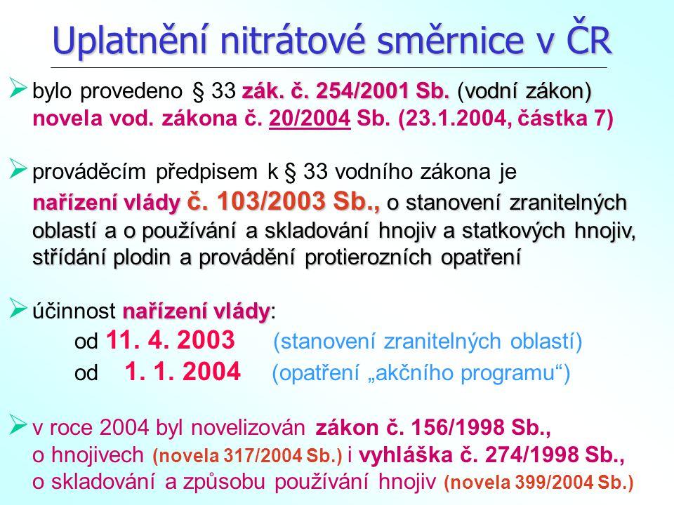 Z ákon č.254/2001 Sb. o vodách (novela k 23. 1.