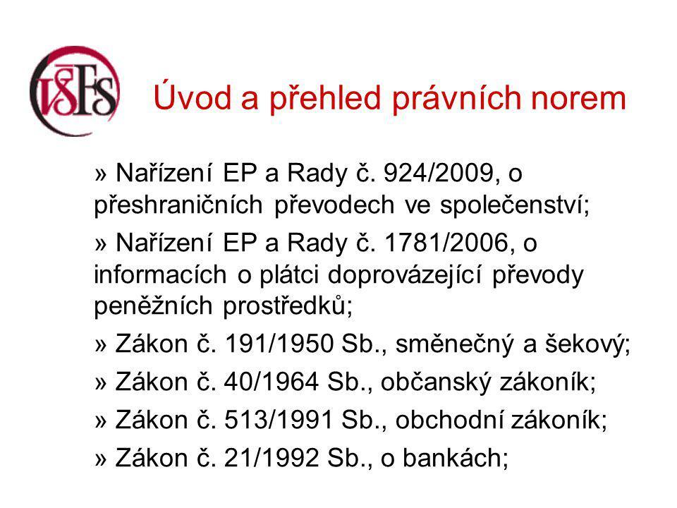 Úvod a přehled právních norem » Nařízení EP a Rady č.