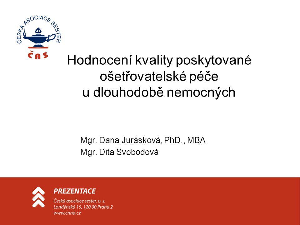 Mgr. Dana Jurásková, PhD., MBA Mgr. Dita Svobodová Hodnocení kvality poskytované ošetřovatelské péče u dlouhodobě nemocných