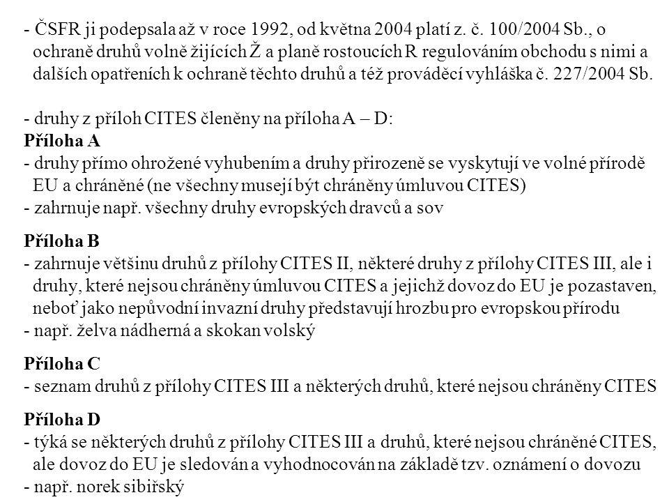 - ČSFR ji podepsala až v roce 1992, od května 2004 platí z.