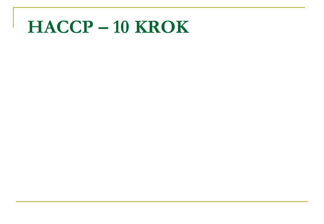 HACCP – 10 KROK