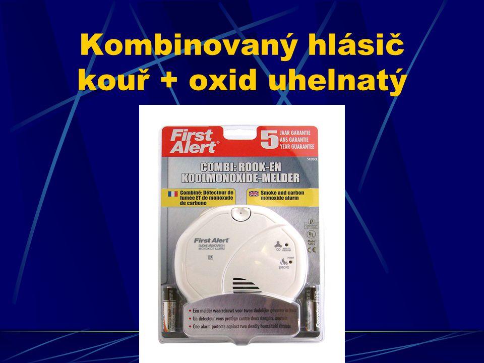 Kombinovaný hlásič kouř + oxid uhelnatý
