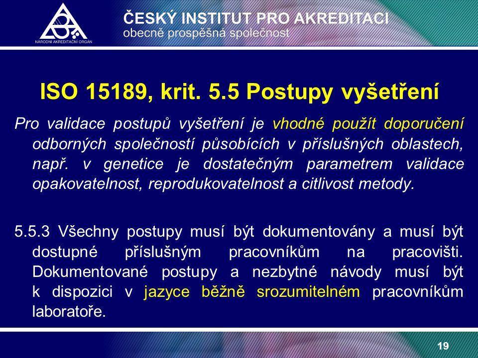 19 ISO 15189, krit.