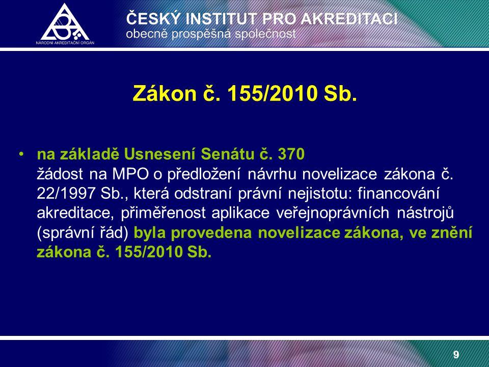 9 Zákon č. 155/2010 Sb. na základě Usnesení Senátu č.