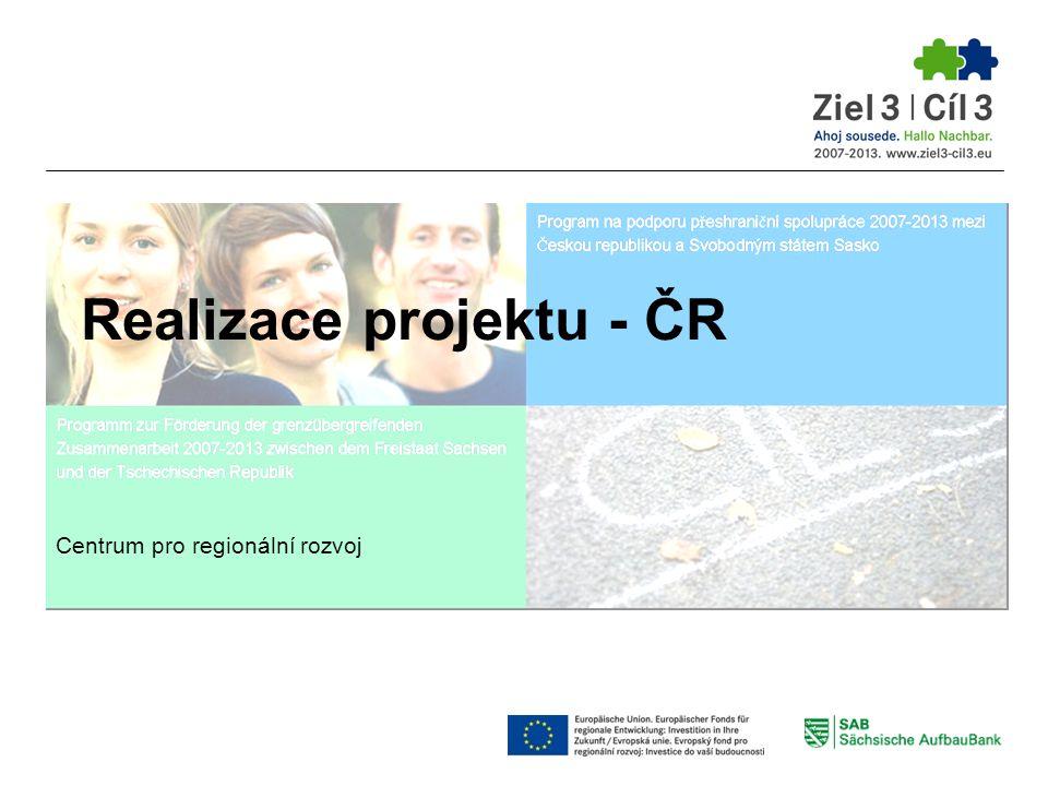 Realizace projektu - ČR Centrum pro regionální rozvoj