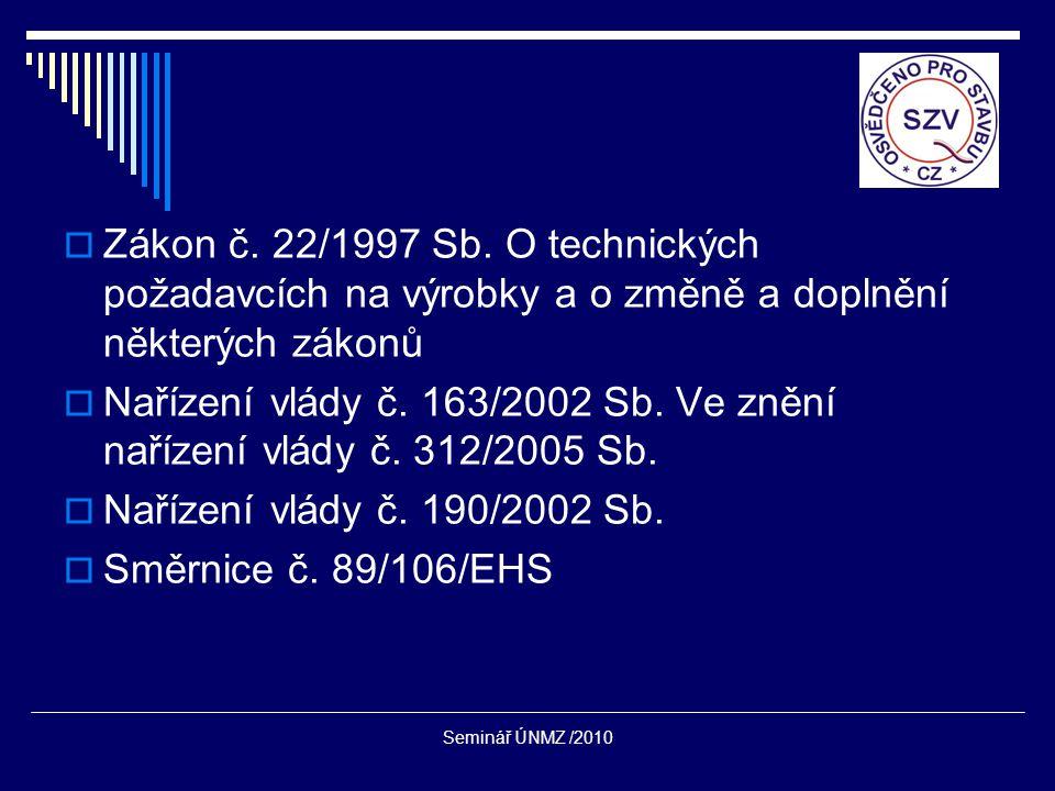  Zákon č. 22/1997 Sb.