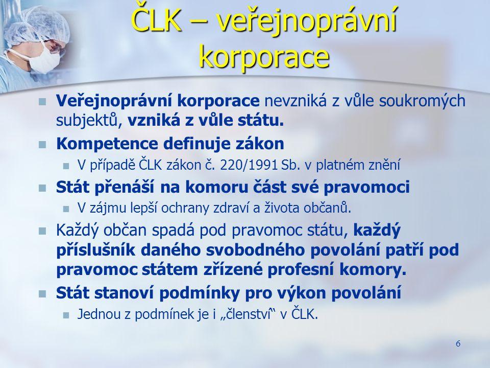 17 Počet stížností řešených ČLK § 2 odst.1 a) zákona č.