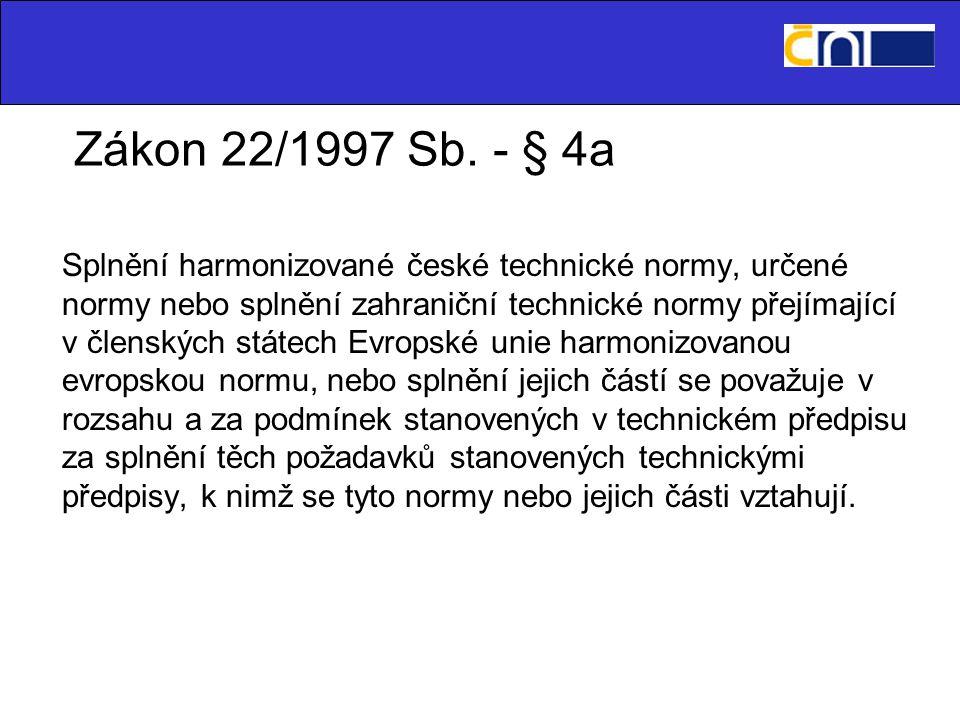 Zákon 22/1997 Sb.