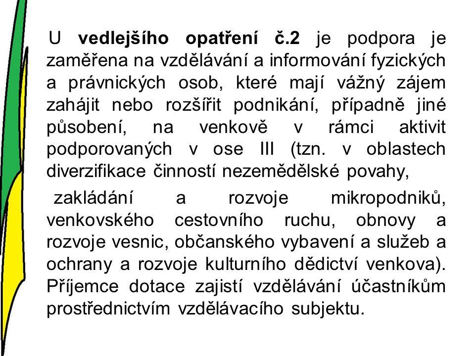 FICHE 2.3.Zlepšení stavu objektů občanského vybavení a služeb Hlavní opatření III.2.1.2.