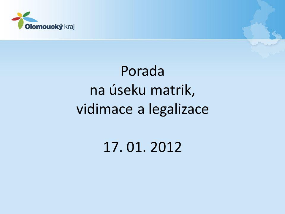 Program : závěry a informace z porady MV ČR ze dne 16.12.2011 závěry z kontrol plán kontrolní činnosti na 1.