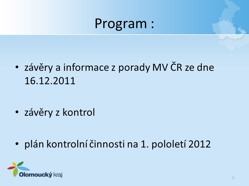 Závěry a informace z porady MV ČR Vyhláška č.441/2011 Sb., kterou se mění vyhláška č.