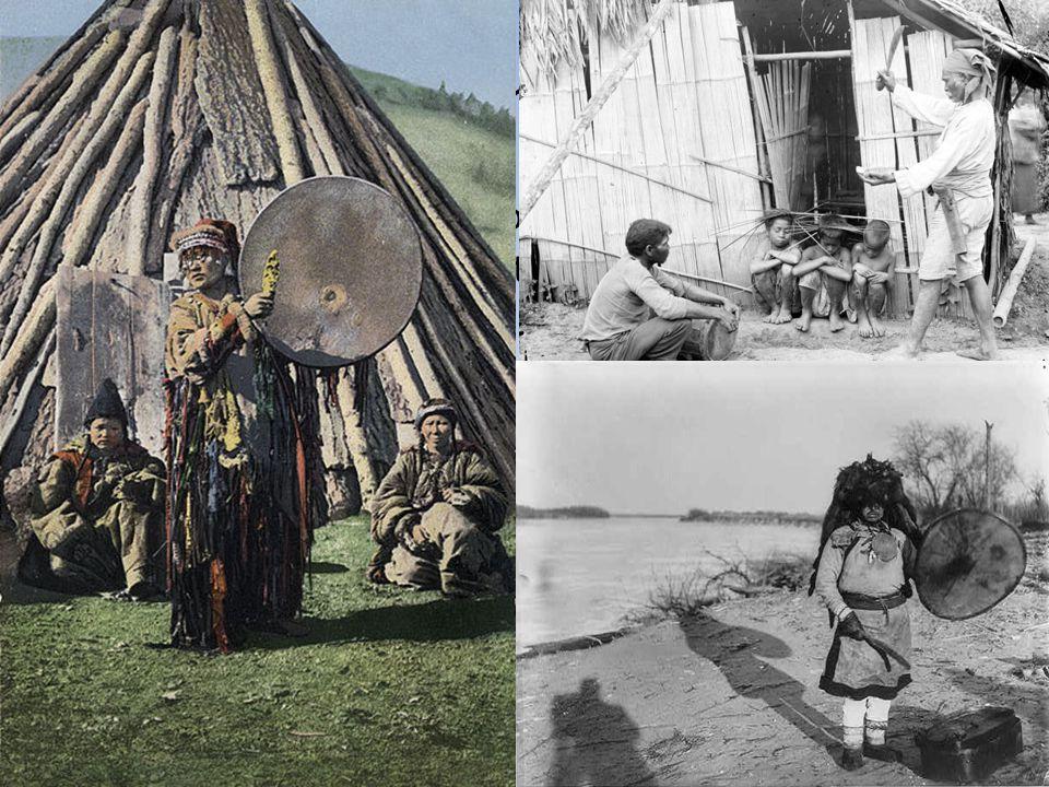 Šamanismus Popsán také u dalších lovecko-sběračských a nomádských společností Asie, Afriky, Ameriky i Austrálie. Nejedná se ale o sémanticky vyjasněný