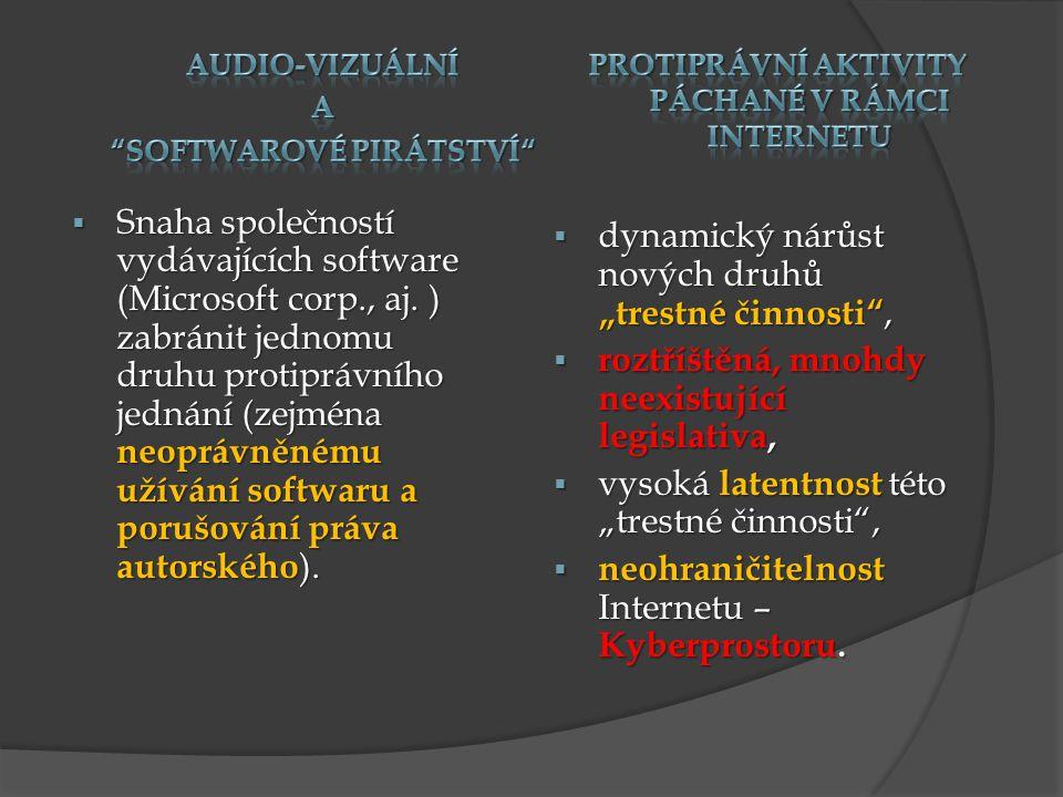 Od 1.1.2010 je trestné neoprávněné získání přístupu k počítačovému systému a nosiči informací - § 230 TzK.