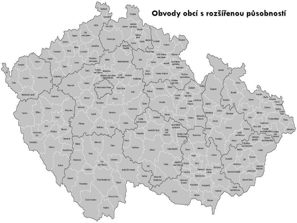 Obvody obcí s rozšířenou působností