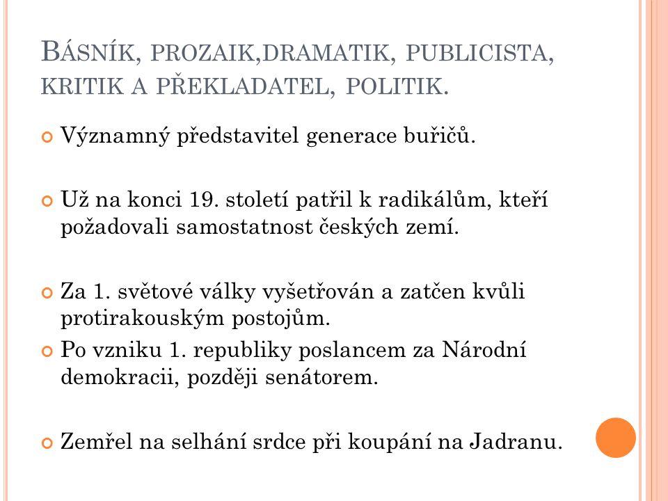 T VORBA : Prvotina vyjadřuje vzpouru proti společnosti – básnická sbírka Buřiči.
