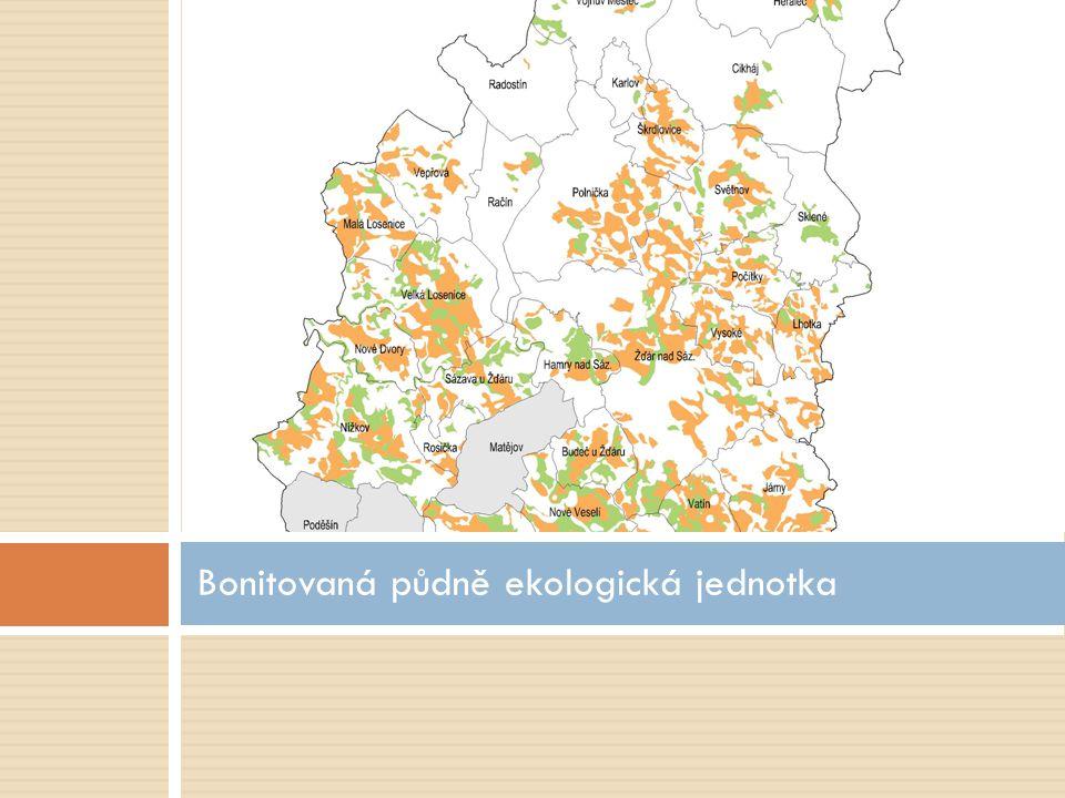  Bonitovaná půdně ekologická jednotka je pětimístný číselný kód související se zemědělskými pozemky.