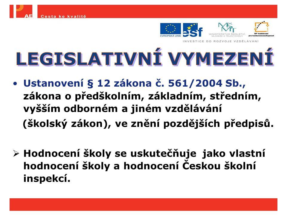 Ustanovení § 12 zákona č. 561/2004 Sb., zákona o předškolním, základním, středním, vyšším odborném a jiném vzdělávání (školský zákon), ve znění pozděj